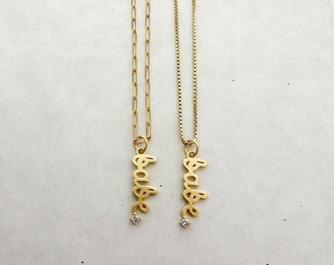"""The Bridgette """"Babe"""" necklace"""
