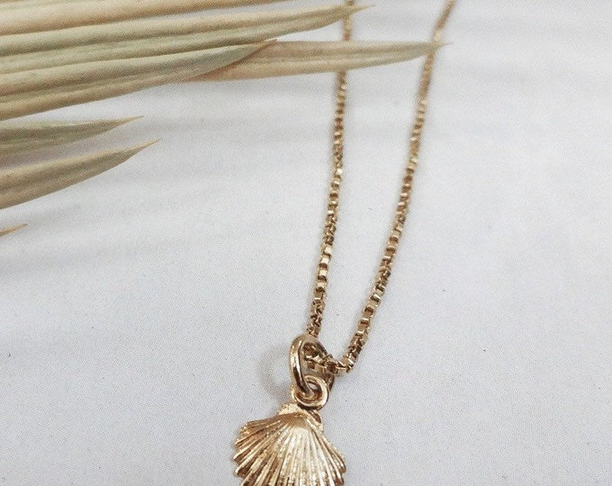 Tiny 14k gold filled sea shell