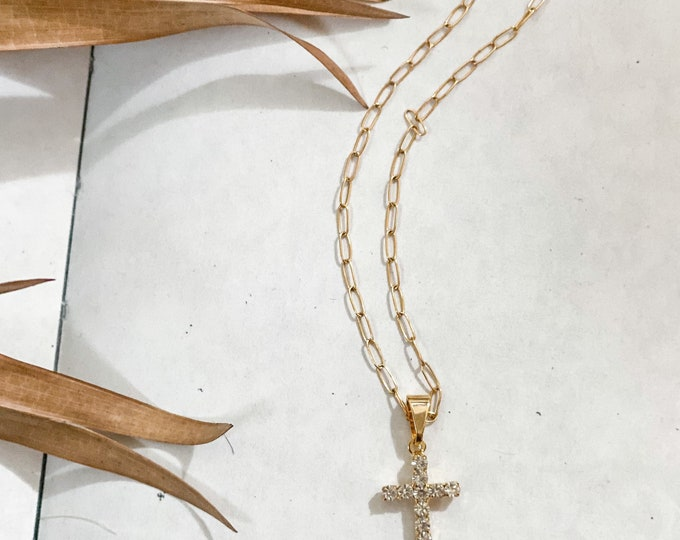 Dainty Gold Filled Cross