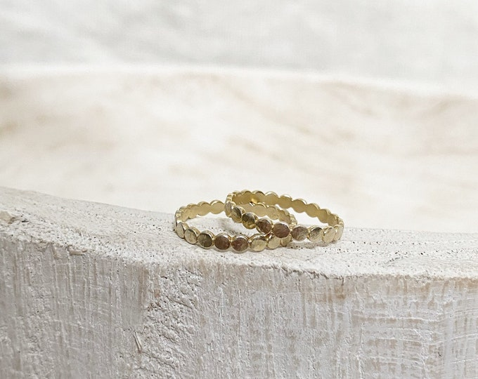 14k gold bubble ring
