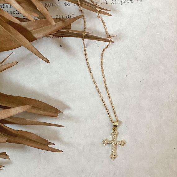 18k Gold Cross