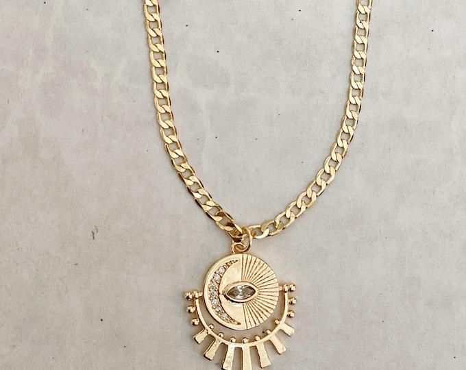 Celestial Pendent - 14k gold filled