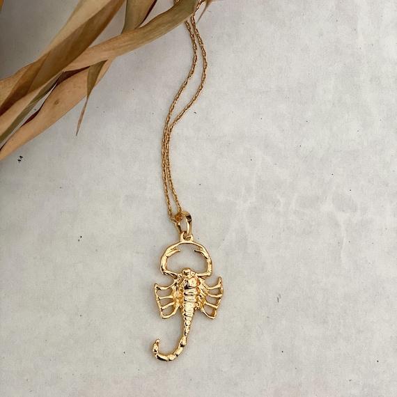 Gold Scorpion Necklace - large unisex