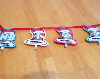 ONE WEEK SALE! - Dr. Seuss 12 month banner
