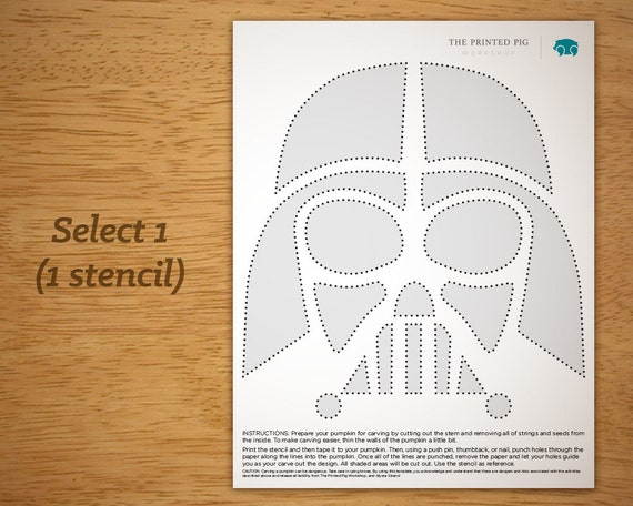 Printable Pumpkin Carving Pattern: Star Wars