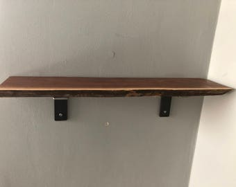 Black Walnut Live Edge Shelf (handmade)