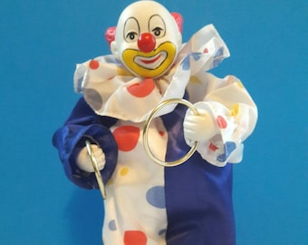 Sequin Patch Wind-Up Clown
