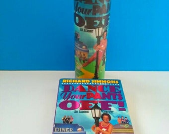 Richard Simmons Fitness Video Container Candle, Dance Your Pants Off, Glass Candle, Richard Simmons, Container Candle, Exercise Video Candle