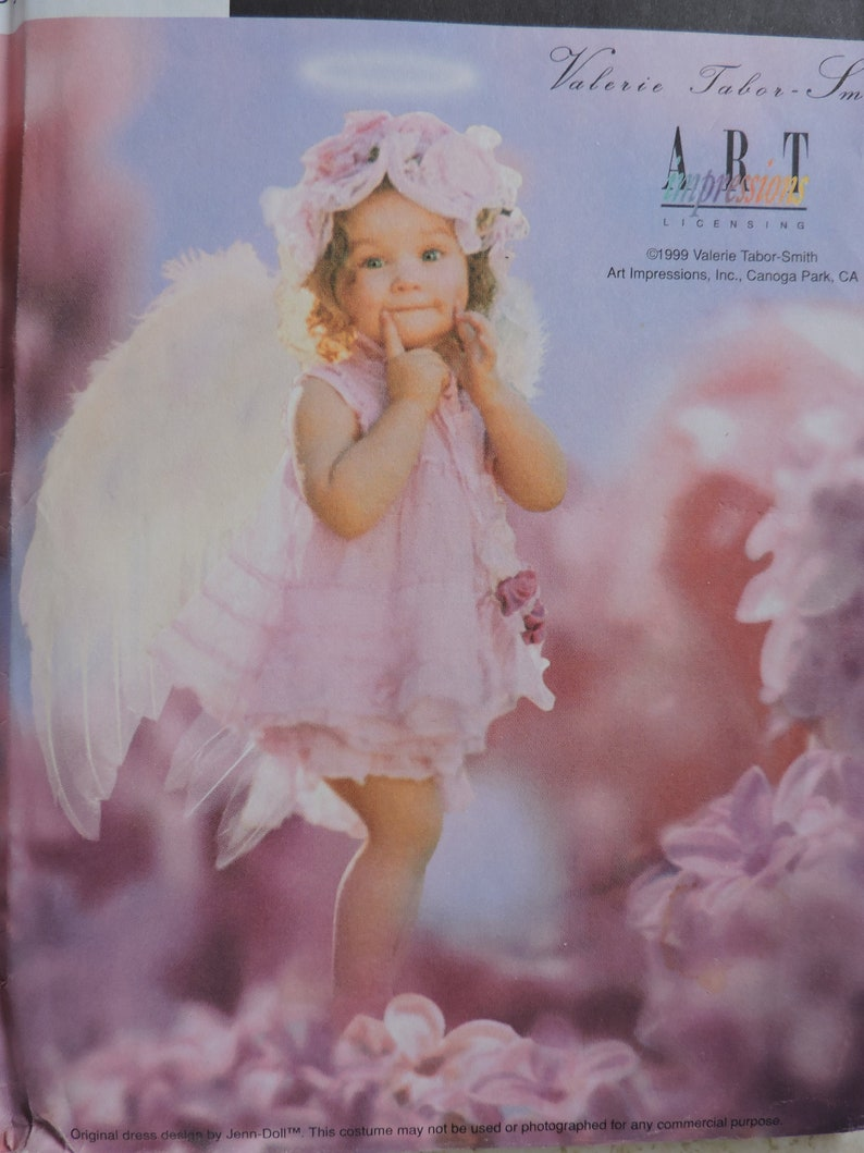 Fantasy Angel Little Girl Costume Halloween Designer Valerie Taber Smith Simplicity 8833 Uncut Sewing Pattern Toddler Child/'s Size 12-4