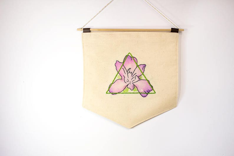 Lotus Flower Wall Hangings Watercolor Tapestry Boho Fabric Etsy