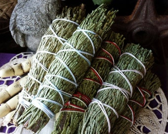 Cedar Smudge Wand, Natural Cedar Incense, Witchcraft Supply, Smudging Wand for Smoke Clearing