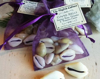 13 Whole Gold Cowrie Shells, Witchcraft Supply, Wicca Supplies, African Divination Tools, Shells for the Water Element in magical practices
