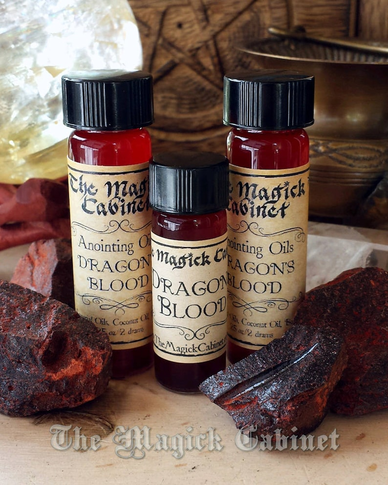 Dragons Blood Oil, Ritual Oils for Witchcraft and Wicca Supplies, Anointing  Oils, Dragons Blood Perfume or Liquid Incense, Aromatherapy