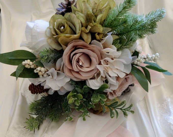 Winter inspired Heirloom Bouquet