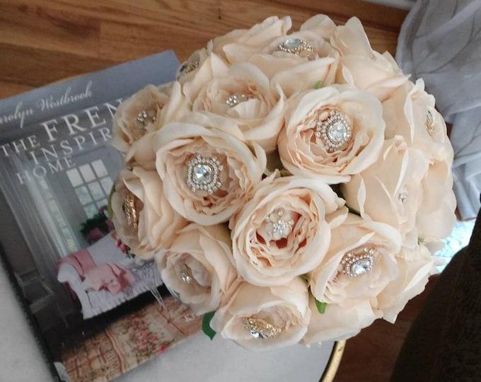 Antiqued Blush Rose Bouquet