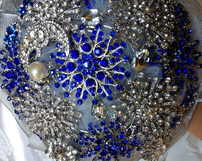 Celestial Blue & Silver Bouquet