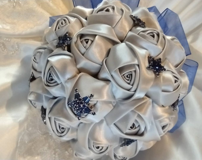 Silver and Blue Celestial themed Bouquet