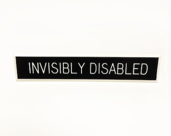 Invisibly Disabled Pin