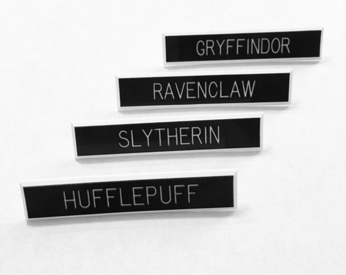 Hufflepuff pin, Slytherin pin, Ravenclaw pin, Griffindor pin, hogwarts house pin, Harry Potter inspired accessories