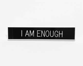 I Am Enough Pin