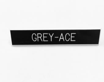 Grey-Ace Pin