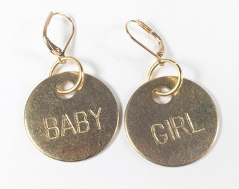 Babygirl Earrings, DDLG Accessories, Submissive Earrings