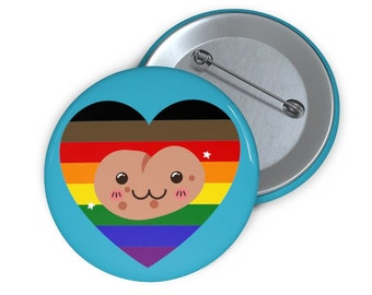 LGBTQ+ Pride Potato Button