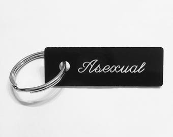 Asexual Keychain
