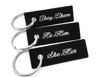 Pronoun Keychain