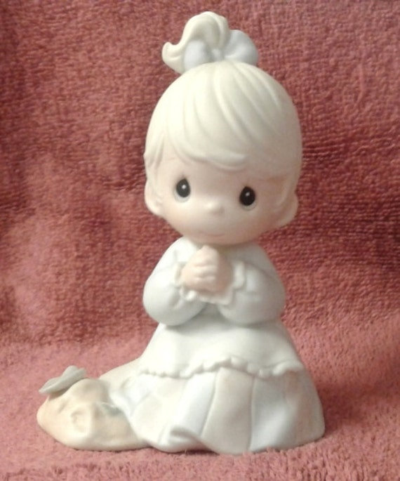 Vintage Precious Moments Figurine Sowing The Seeds Of Etsy