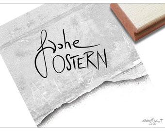 zAcheR-fineT Textstempel Osterfest Osterkarten Geschenkanh/änger Basteln Osterdeko Scrapbook Stempel Osterstempel Frohe Ostern in Handschrift