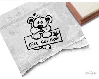 Stamp Teacher Temple dog Praise: Great done-school stamp to motivate children, reward, commendation, gift for teachers, educators