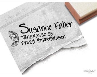 Address stamp personalized SHEET I - Address stamp, family stamp, wooden stamp or automatic stamp individualized, gift