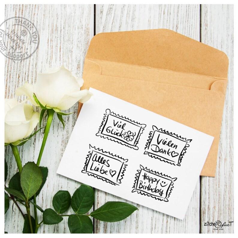 Stamp text stamp Type-4-set stamp