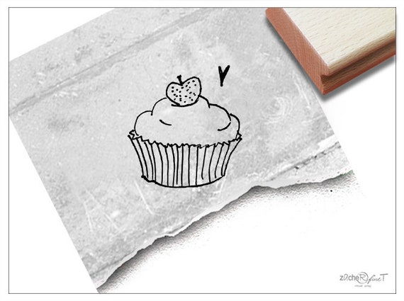Stempel Motivstempel Cupcake Kuchen Bildstempel Fur Etsy