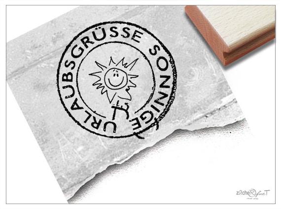 Stempel Poststempel Urlaubsgrüße   Etsy