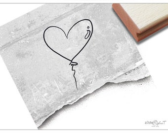 Stamp Motif Stamp Picture Stamp - Heart Balloon