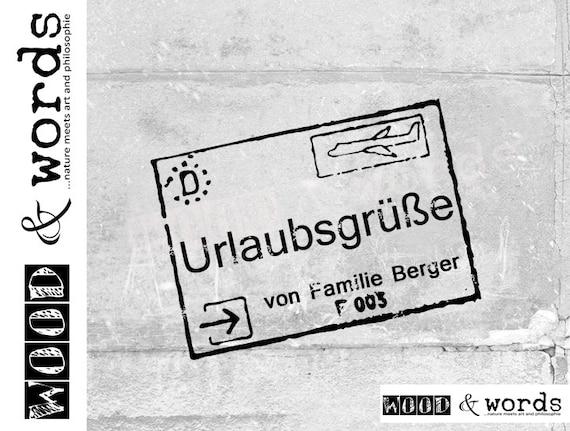 Individueller Namensstempel URLAUBSGRÜßE personalisiert mit   Etsy