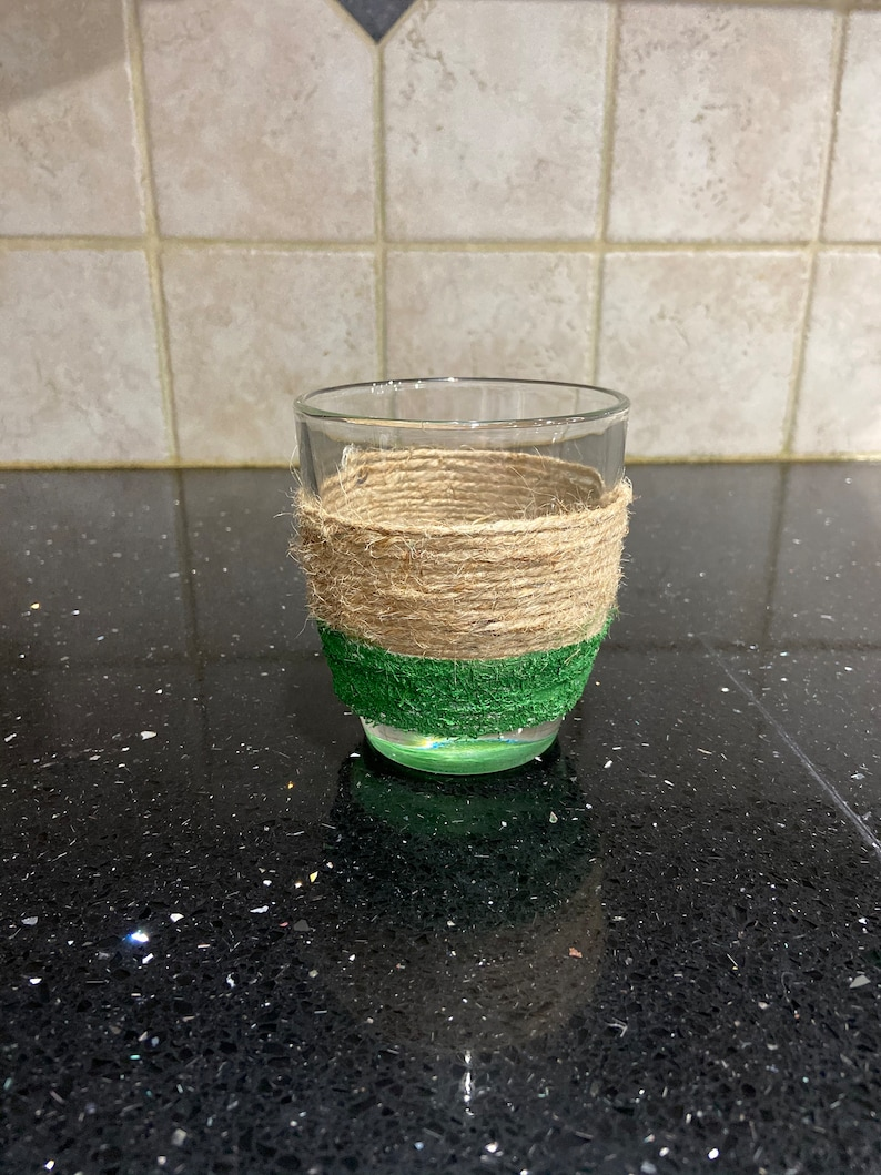 Glass /& Twine Candle Holder Farmhouse Inspired