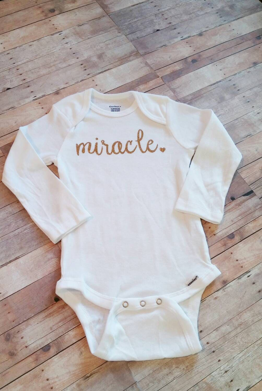 3aaeb8aba Miracle Bodysuit preemie girl clothes Take Home Outfit