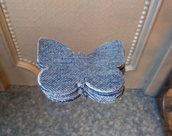 960d62adb43 Upcycled Repurposed Denim Fabric Sew or Glue on Butterflies 20 Set