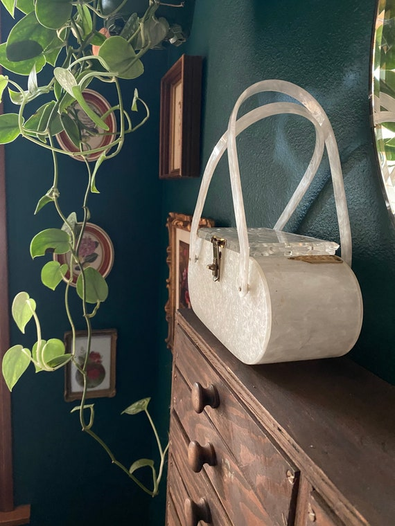 1950's / Retro /Clear /Lucite /Handbag Purse - image 2