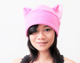 3e8028e8d92 Pink pussy hat - Pussy Hat - Pussy cat hat - Pink Pussy Hats - Pussy Beanie  Hat - Cat ear Hat - Cat Ears - cat cosplay hat - Pink Cat Hat