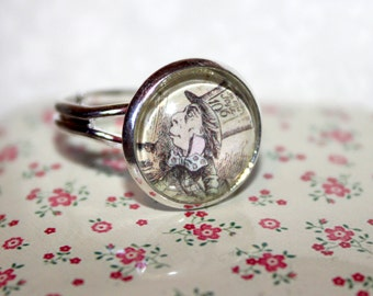 Cute Alice In Wonderland Mad Hatter ring