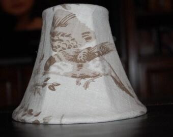 Bird Chandelier Shades -- Beige, Taupe, Cream