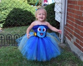 Baby Dory, Finding Dory Tutu, Finding Dory Costume, Finding Dory Birthday, Finding Dory Halloween,