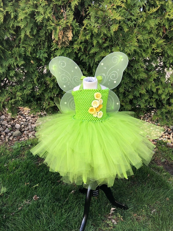 fairy costume tinkerbell tutu Tinkerbell tutu green and pink fairy tutu costume halloween tutu costume Tinkerbell costume Fairy tutu