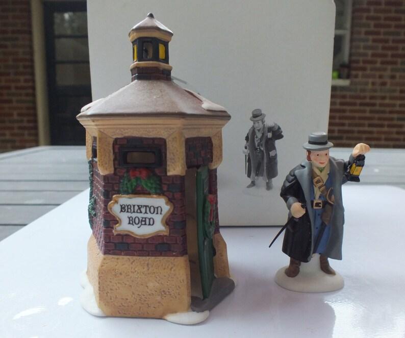 Dept 56 Dickens Village Brixton Road Watchman Set of 2