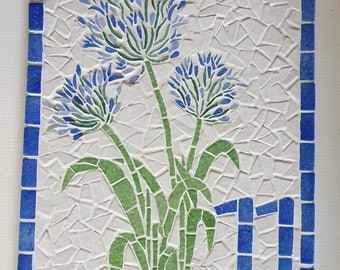 """Home plate Street """"Agapanthus"""" enamels of briare to order"""