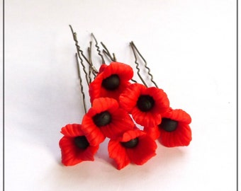 6 pin hairdressing poppy poppy porcelain cold